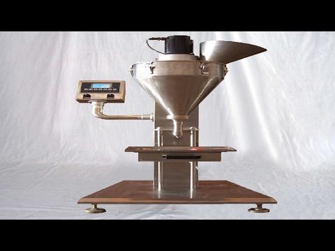 powder filling machine semi automatic operation commissioning demo how to 半自動粉劑灌裝機教學視頻