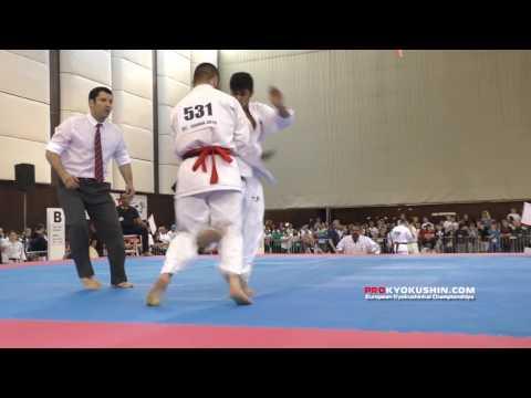 IKO EC 2016, 1 round -80 Houman Rankouhi (Iran) - Ashot Zarinyan (Russia, aka)