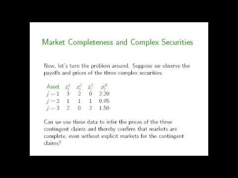 Arrow Debreu And Option Pricing Part 1