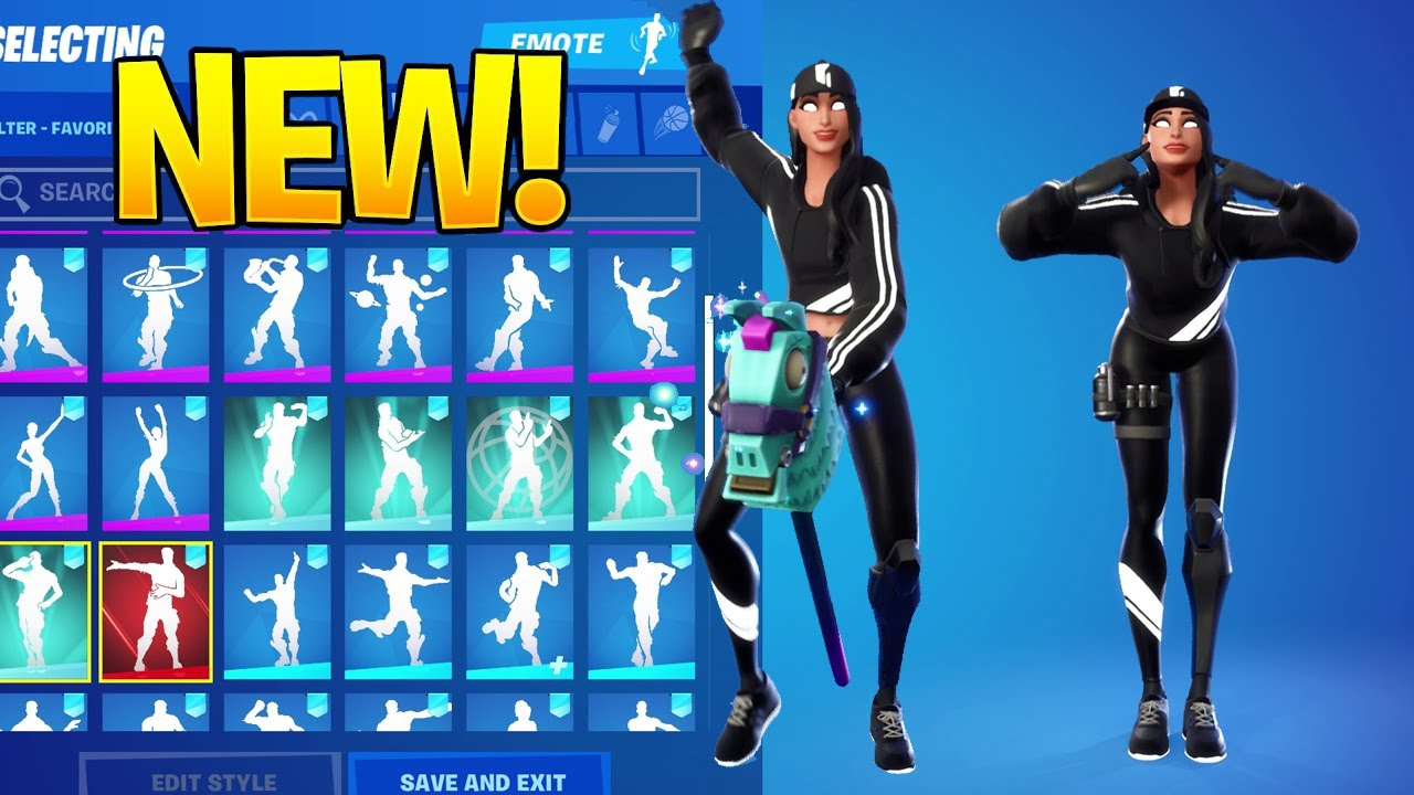 Download [NEW] Ruby Shadow Skin With Dance Emotes! FORTNITE