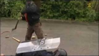 Video: ESP ASRU-60-100 - Scut Politie antivandal ambidextru