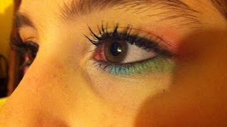 Rainbow Eye Makeup Tutorial Thumbnail