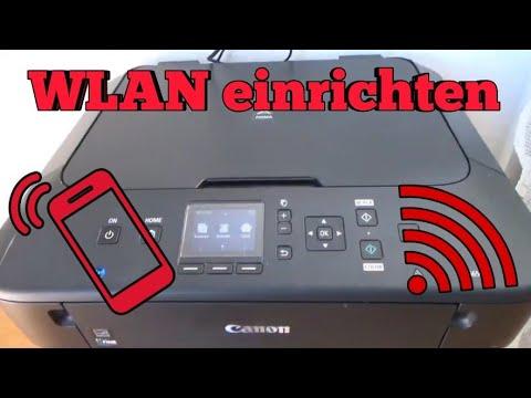 Canon Pixma MG8 WLAN Drucker einrichten Wifi Drucker installieren Handy  mit Drucker verbunden