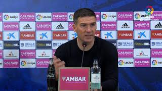 Rueda de prensa de  Luis Carrión tras el Real Zaragoza vs CD Numancia (1-0)