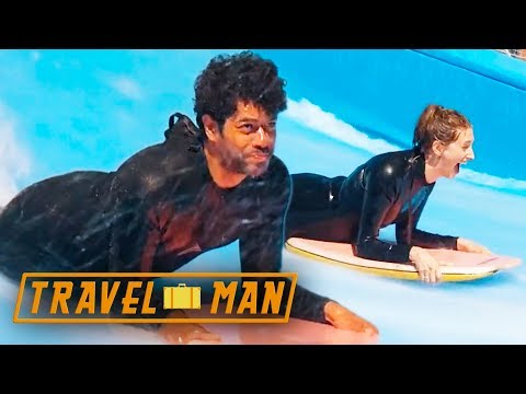 Richard Ayoade and Jessica Knappett go Flowboarding  48hrs in...Ibiza
