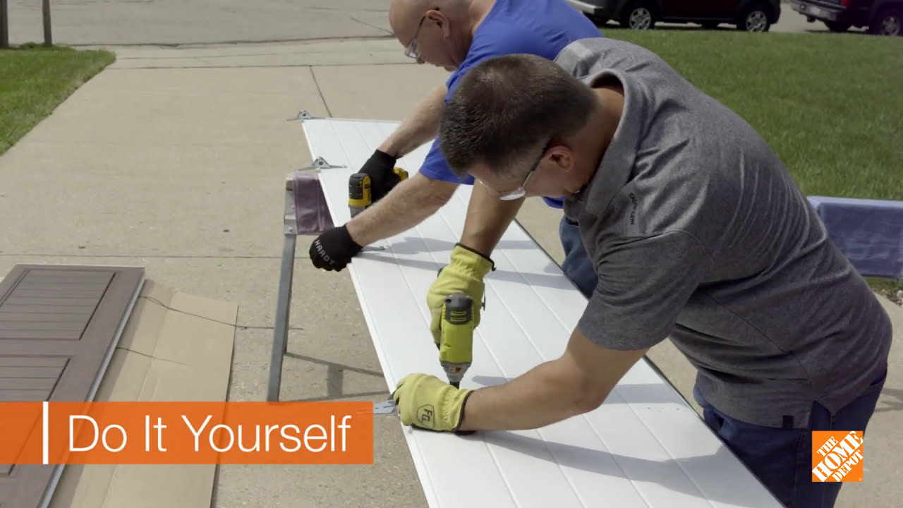 Installing A Clopay Garage Door From The Home Depot Youtube