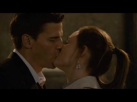 Download Bones 5x16 - Booth and Brennan first kiss