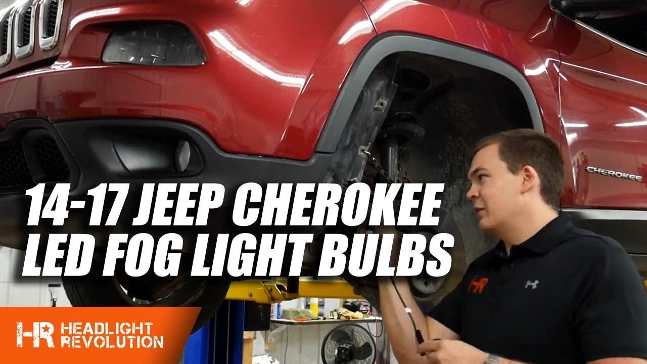 2014-2017 jeep cherokee led fog light install