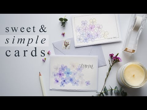 Beautiful 15 Minute Watercolor Greeting Cards