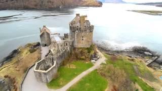 Amazing Drone Footage of  Eilean Donan Castle