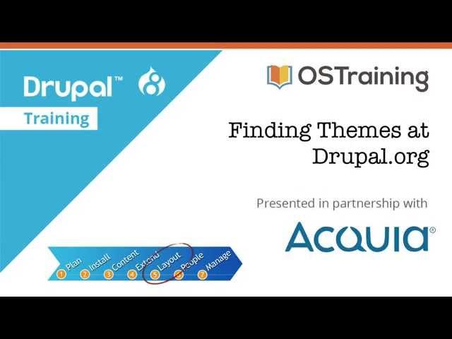 Drupal 8 Beginner, Lesson 53: Finding Themes at Drupal.org