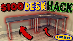 $100 Ikea Desk Hack Unboxing/Build (Linnmon L-Shaped Corner Desk)