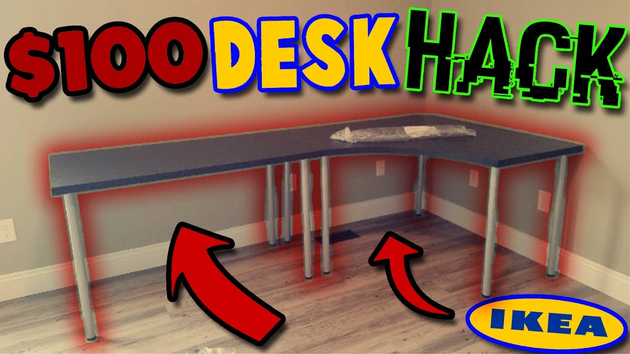 100 Ikea Desk Hack Unboxingbuild Linnmon L Shaped Corner Desk