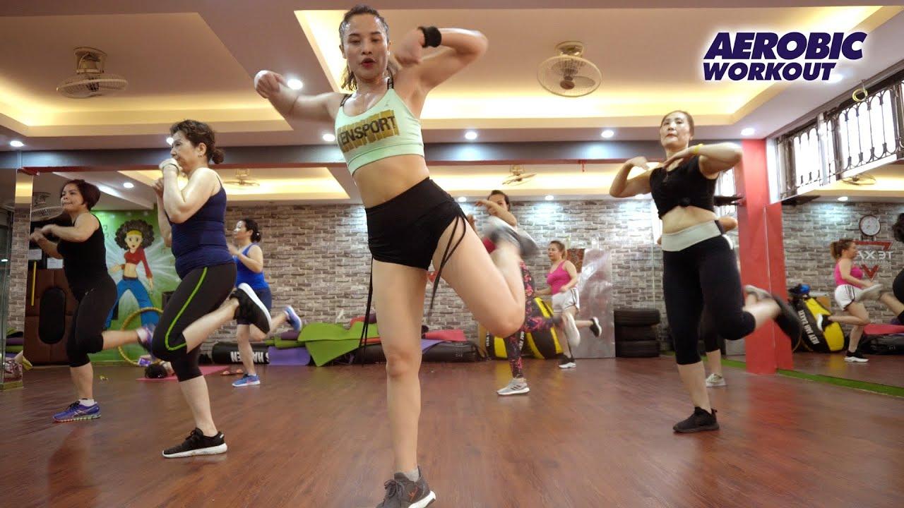55 Minutes Aerobic Exercise Burn Fat Super Fast l Aerobic Workout