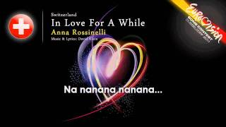 Anna Rossinelli 'In Love For A While' Switzerland   ESC 2011   onscreen lyrics