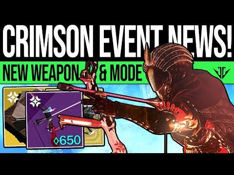 Destiny 2 | CRIMSON REVEALED & 650 POWER REWARD! New Weapon, Event Currency, Game Mode & Details! thumbnail