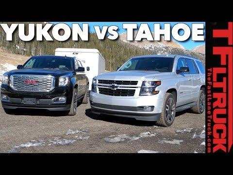 2018 Chevy Tahoe RST vs GMC Yukon vs The World's Toughest Towing Test