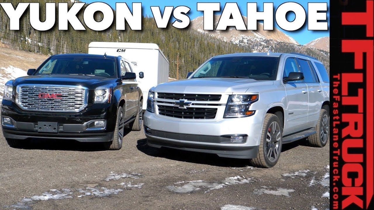 Suburban Vs Tahoe Vs Yukon >> 2018 Chevy Tahoe Rst Vs Gmc Yukon Vs The World S Toughest Towing
