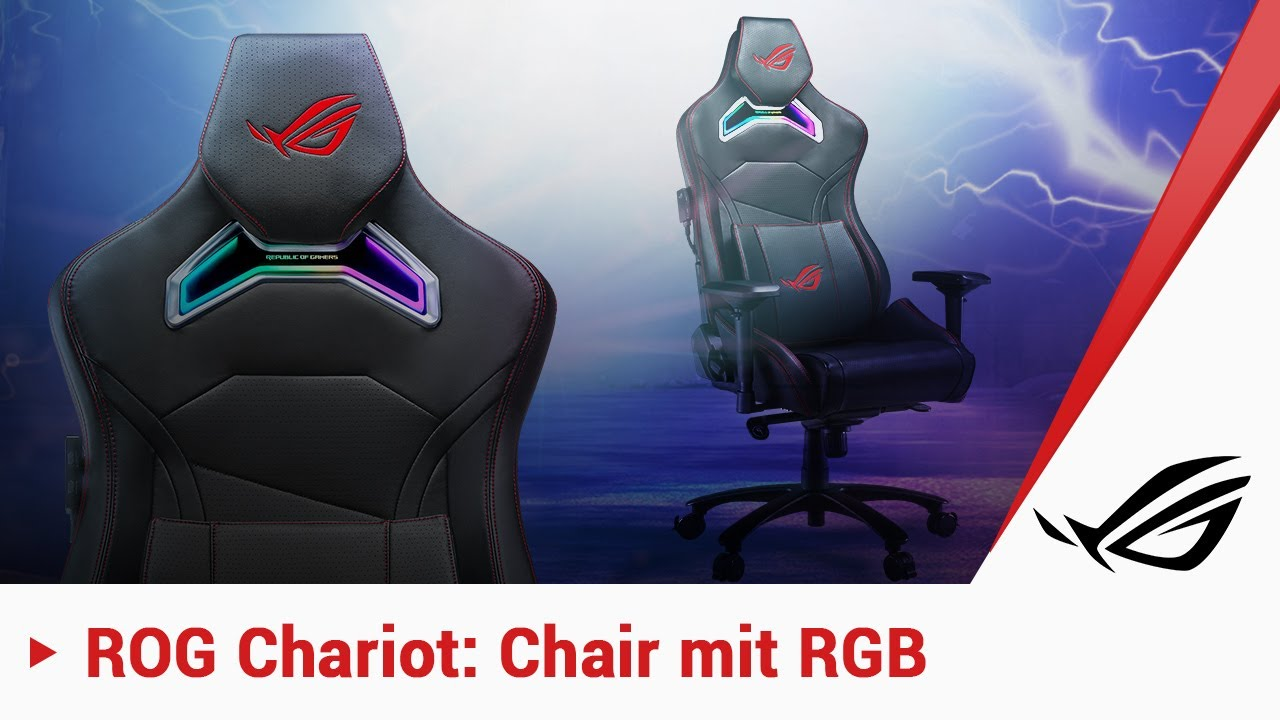 Gaming Chair Mit Rgb Der Rog Chariot Youtube