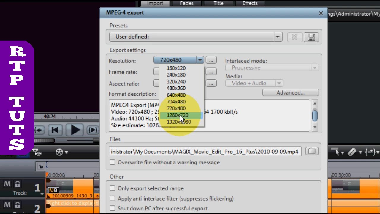 Best Video Format for YouTube with Magix Movie Edit Pro 16 Plus mp4 ...