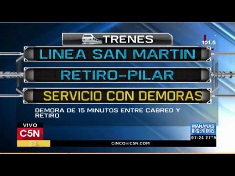 C5N - Tránsito: El estado de los accesos y el transporte en Buenos Aires 12/02/2016
