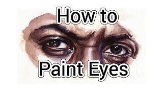 How To Paint Eyes   Idris Elba