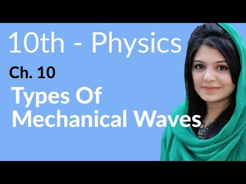 10th Class Physics Ch 10,Types of Mechanical Waves-10th Physics book 2 Chapter 10