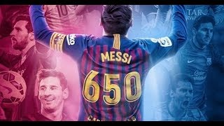 Messi: 650 goles con relatos