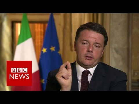 Brexit: 'British people made bad decision on EU' Matteo Renzi - BBC News