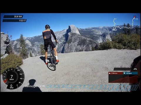 2 HOUR CLIMB UP GLACIER POINT YOSEMITE, INDOOR CYCLING MOTIVATION VIDEO - 동영상