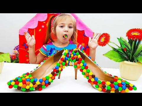 Алиса играет в продавца сладких туфлей  #sweetshoe
