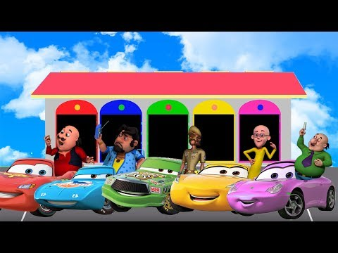 Thumbnail: Learn Colors and Numbers with Motu Patlu Chingam Ghasitaram Dr.Jhatka John The Don Disney Cars 3