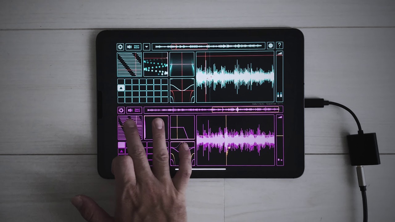 Space Craft (iOS Music App) | make experimental sound using iPad
