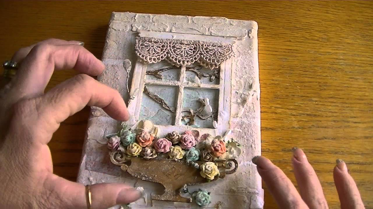 Small Canvas Using Tim Holtz Window Die 10 16 13 YouTube
