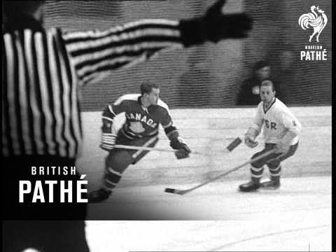 Czechs Beat Canada In Ice Hockey Warm Up (1964)
