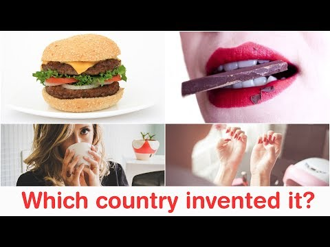 Which country invented it? - 1 - Paper | Chess | Football | Burger | Chocolates??