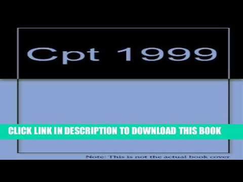 New Book Cpt 1999 Current Procedural Terminology