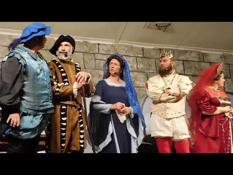 Geraldine Dinner Theater Tragedy in the Royal Courts - Sword fight leads to laughs
