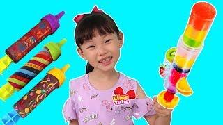 엄마와 함께 초간단 아이스크림 만들기! 풀팝 장난감 놀이 LimeTube & Toy 라임튜브