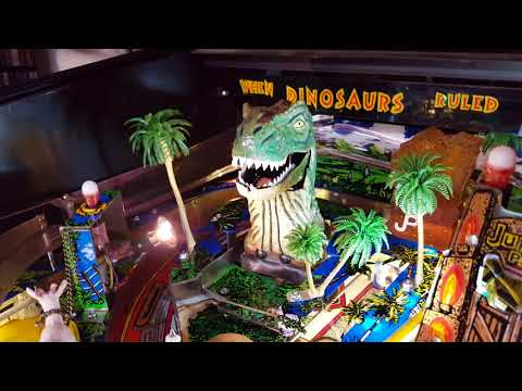 Jurassic Park Pinball painted T-Rex with teeth
