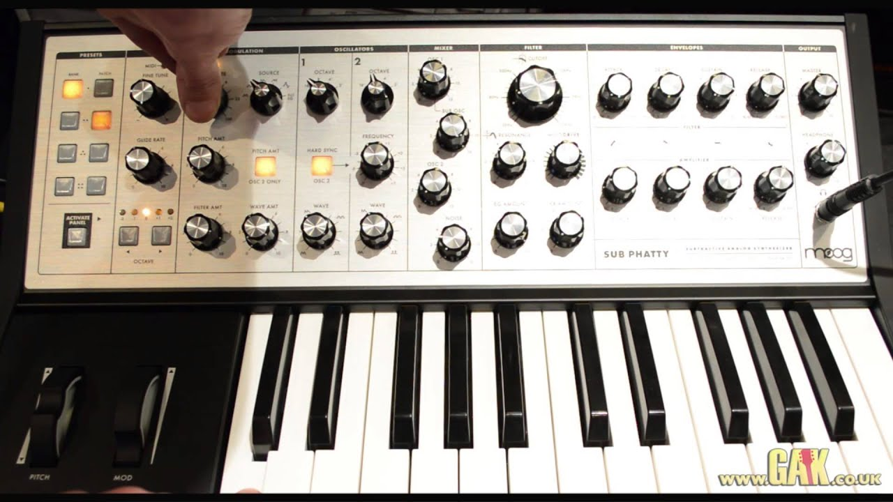 The moog sub 37, built on the sub phatty sound engine, is a powerful synth. Learn every detail of this gritty little moog as explained by keyboardist and traine.