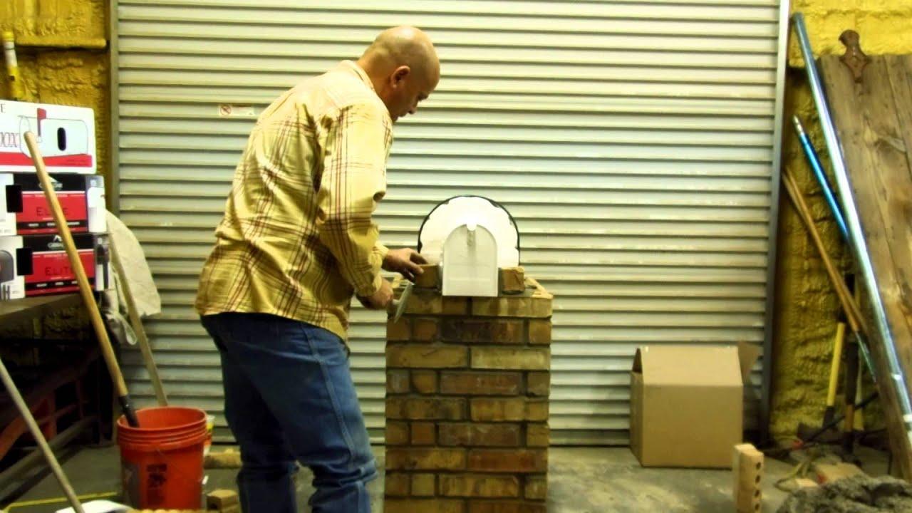 building brick mailbox using template  mailbox maximizer