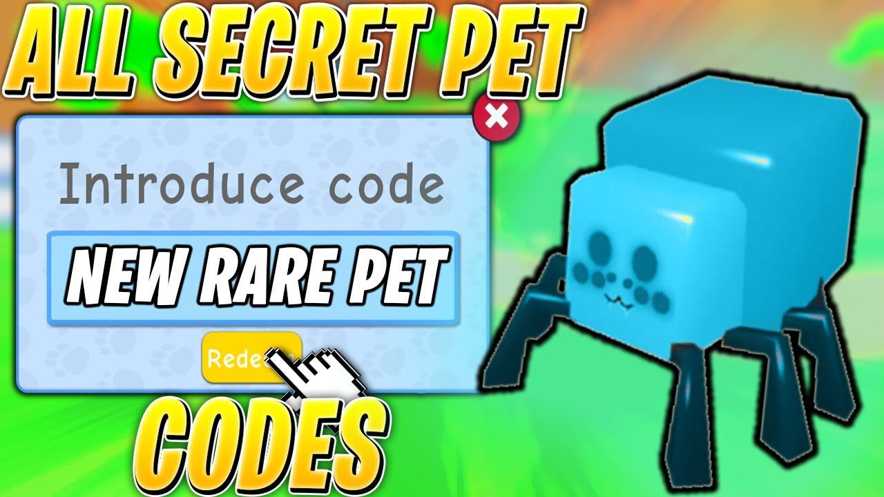 codes for pet simulator roblox