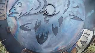 Эксклюзивная сковорода из диска, с крышкой и гравировкой под заказ