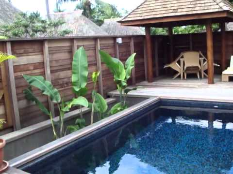 Moorea hotel hilton garden pool suite mp4 youtube for Garden pool suite hilton moorea
