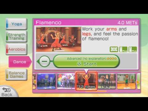 Wii Fit U All 8 Dance Routines (Advance Difficulty)
