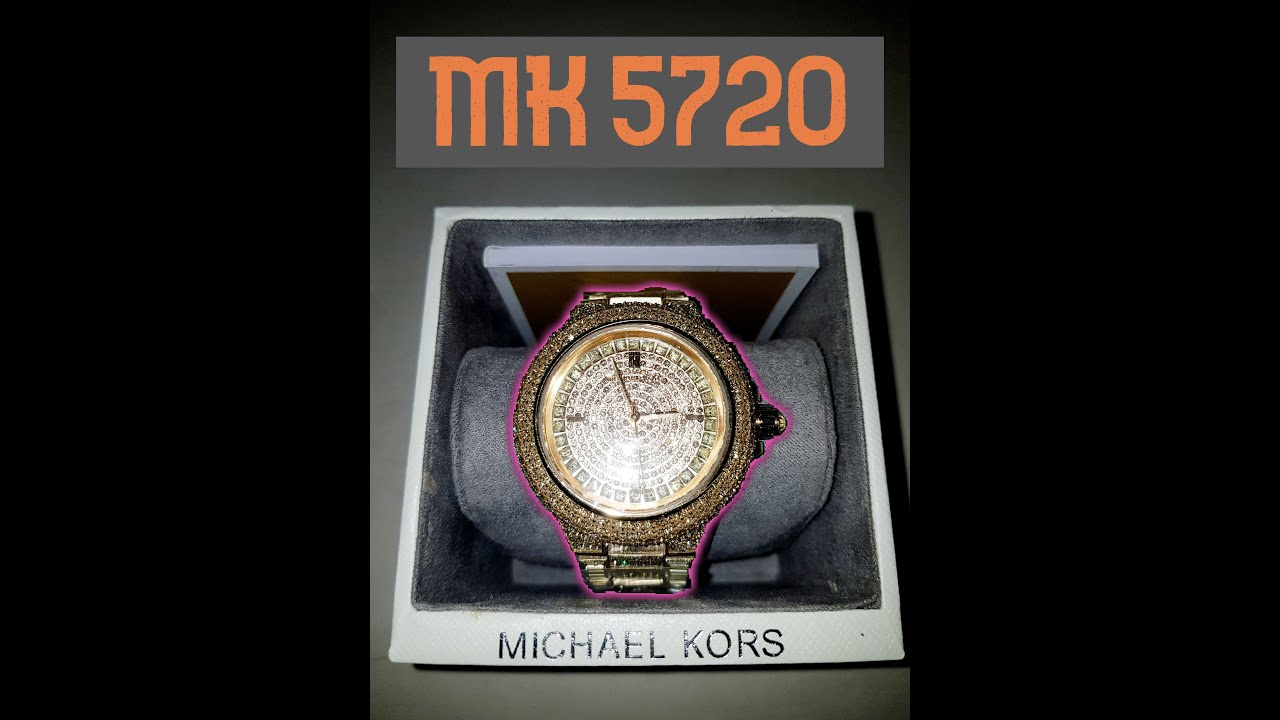 dc3880f8342d UNBOXING - Michael Kors Camille Crystal Encrusted Gold Ion-plated Women s  Watch - Mk5720