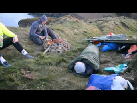 Wild camping on a cliff edge in Ireland!