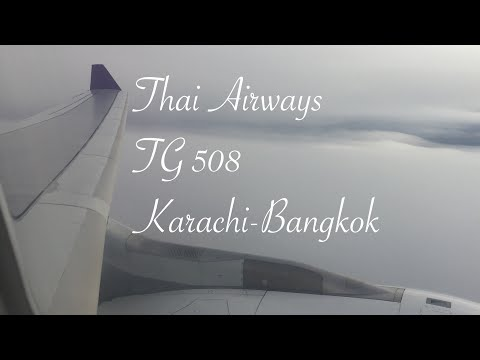 TRIP REPORT #1  |Thai Airways|TG508| Airbus A330-300|Karachi to Bangkok|