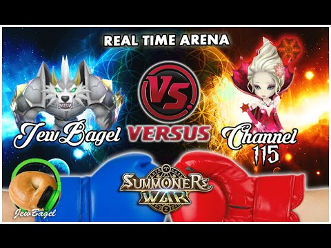 SUMMONERS WAR : JewBagel -VS- Channel 115 (Real-Time Arena)